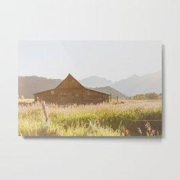 The Barn Before Sunset Metal Print