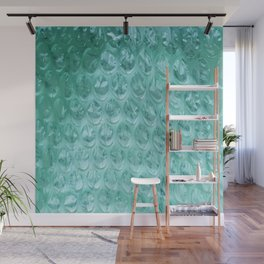 Aqua Bubble Wrap Wall Mural