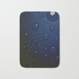 Midnight Blue to Stars in Droplets Polka Dots Bath Mat