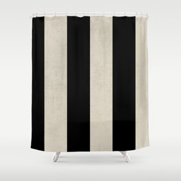 vintage black stripes Shower Curtain