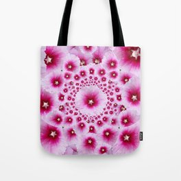 GEOMETRIC FUCHSIA-PINK HOLLYHOCK  PATTERNS Tote Bag
