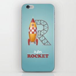 R is for Rocket iPhone Skin