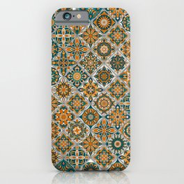 Vintage Mosaic Mandala Pattern iPhone Case