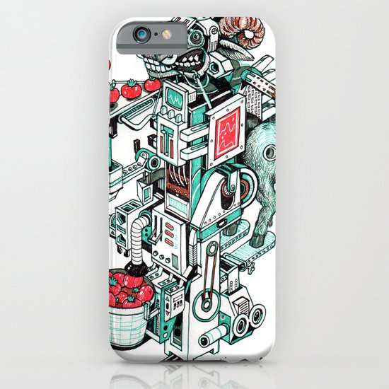 tomato shooting goat machine! iPhone & iPod Case