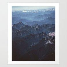 in the peaks Art Print