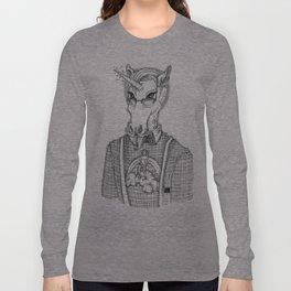 Ironic Hipster Unicorn Long Sleeve T-shirt