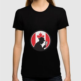 Canadian Private Investigator Canada Flag Icon T-shirt