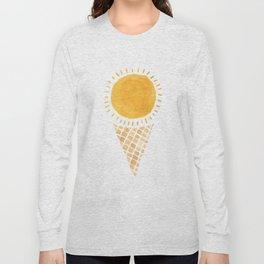 Sun Ice Cream Cone Long Sleeve T-shirt