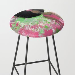 Dripping Pink and Green Angel Bar Stool