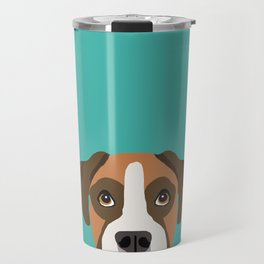 Boxer head dog breed gifts cute pupper Boxers must haves Travel Mug