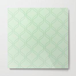 Double Helix - Light Greens #769 Metal Print