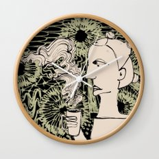 Cafe Drawing Wall Clock