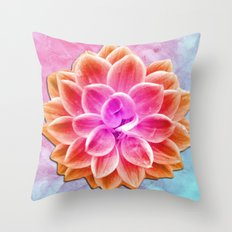 abstract dahlia  Throw Pillow
