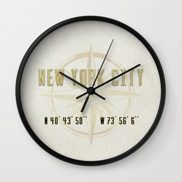 New York City Vintage Location Design Wall Clock