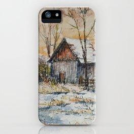 Milk Barn in Watercolor iPhone Case