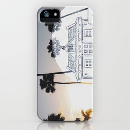 Pencil Sunset iPhone Case