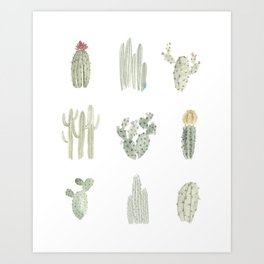 The Cacti Gang Art Print