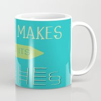 physics Mugs featuring Physics makes us all its bitches by Erika Noel Design