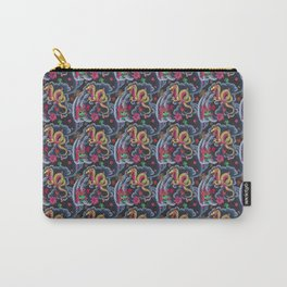 Neon Japanese Tattoo Carry-All Pouch