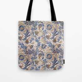 Aged Pomegranate Pattern Tote Bag
