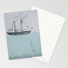 went on a ship of paper Stationery Cards