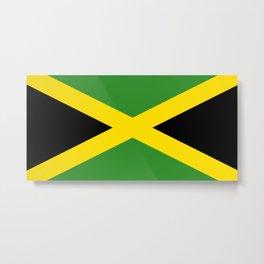 Flag of Jamaica-Jamaican,Bob Marley,Reggae,rastafari,weed,cannabis,ganja,america,south america,ragga Metal Print