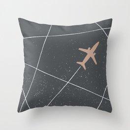 The Jet Set - Charcoal Throw Pillow