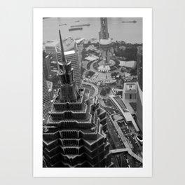Shanghai CBD Art Print