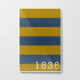 Stripes of Blue and Gold - Emory & Henry College  Metal Print