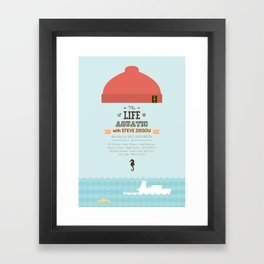 The Life Aquatic with Steve Zissou - minimal poster Framed Art Print