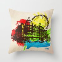 chicago Throw Pillows featuring Chicago by Badamg