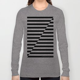 Black and White oblique Long Sleeve T-shirt