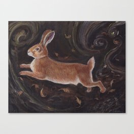 Leaping Hare Canvas Print