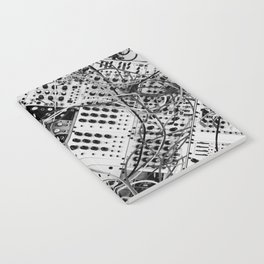 analog synthesizer  - diagonal black and white illustration Notebook
