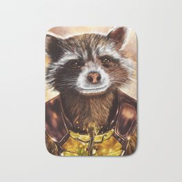 Rocket Raccoon and baby Groot from Guardians of the Galaxy Bath Mat