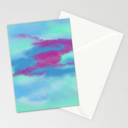 Purple and Blue Sky Stationery Cards
