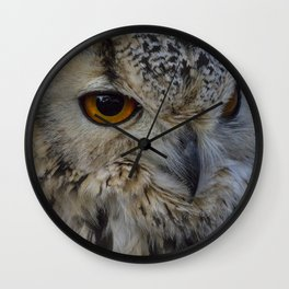 Eurasian eagle-owl, wild bird Wall Clock