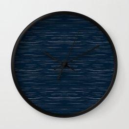Meteor Stripes - Dark Denim Wall Clock