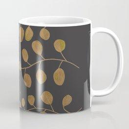 Gold Eucalyptus Leaves Coffee Mug