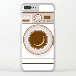 Retro Washing Machine Clear iPhone Case