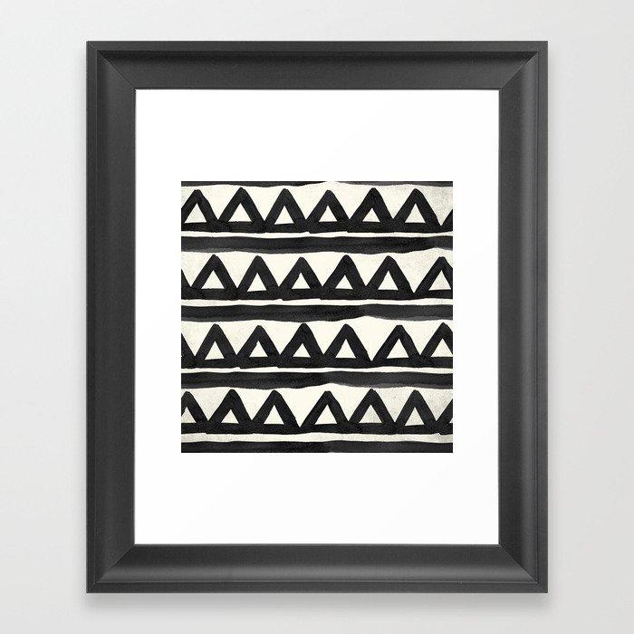 Chevron Tribal Gerahmter Kunstdruck