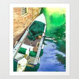 venice boat Art Print