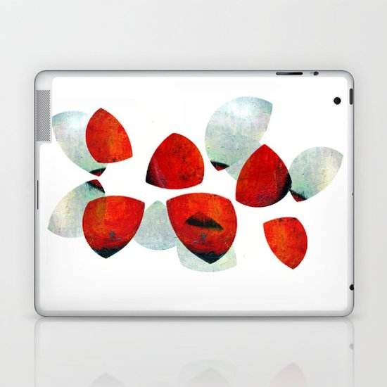 composition in red and grey Laptop & iPad Skin