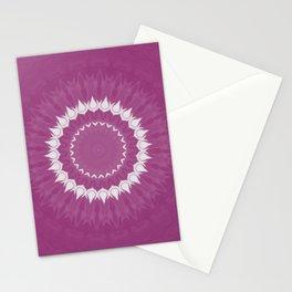 Amethyst & White Gemstone Liquid White Smoke Kaleidoscope 2 Digital Painting Stationery Cards