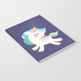 Cute unicorn with colorful mane and tail Notebook