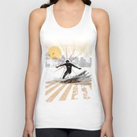 surfer Tank Tops featuring surfer by michael cheung