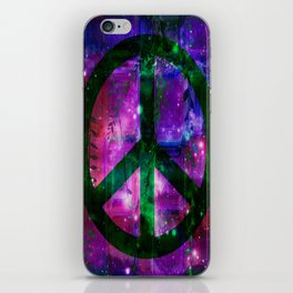 Peace symbol and infused colors iPhone Skin