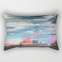 Sunset and a Thunderstorm Rectangular Pillow