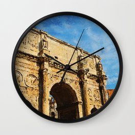 Rome - The Arch of Constantine Wall Clock