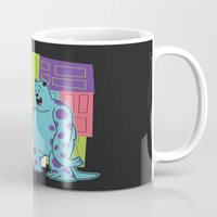 monster inc Mugs featuring Monster Time by Moysche Designs